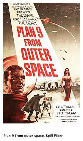 Plan 9 poster med copyright